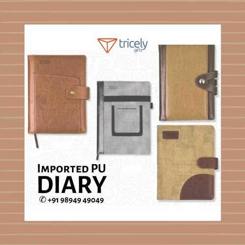 Moisture Proof Imported Pu Diary For Gifting