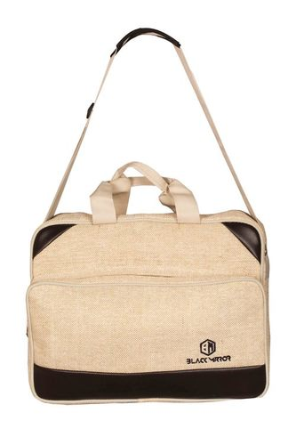 Black Mirror Jute, Foam Laptop Messenger Bag For Men And Women