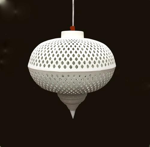Hanging Lamp Off White Finish
