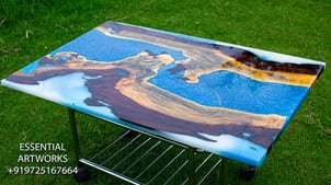 Epoxy Resin Wooden Dining Table Top