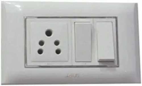 Modular Plastic White Switches