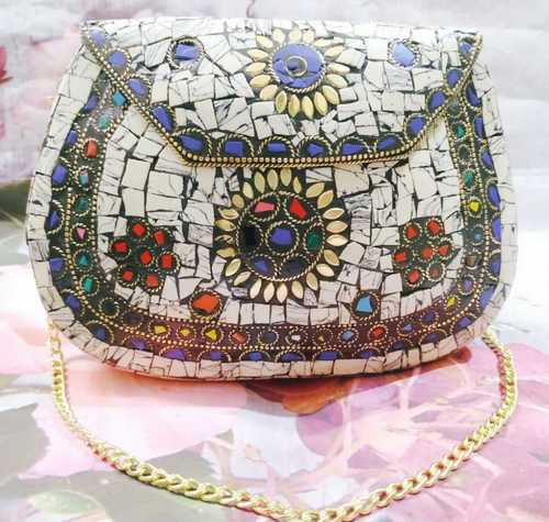 Mosaic And Metal Clutches (Brass)