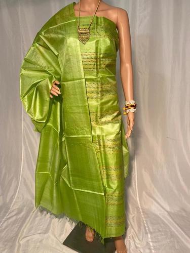 Pure Tussar Silk Weaved Kurti 2.5 Mtrs, Plain Dupatta 2.5 Mtrs (No Bottom)