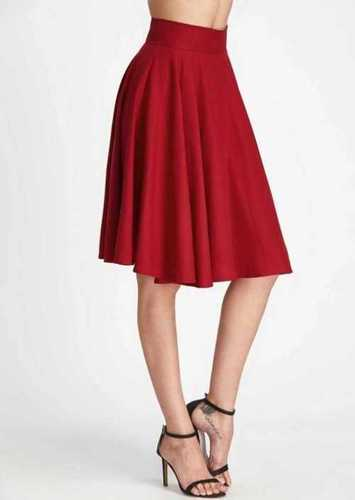 Cotton Knee Length Skirt