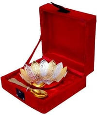 Decorative Silver Gold Plated Single Bowl Set For Wedding Gift