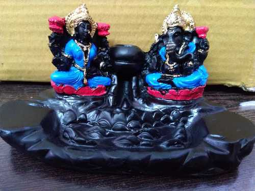 Laxmi Ganesha Statue Polyresin Smokey Corporate Gifts