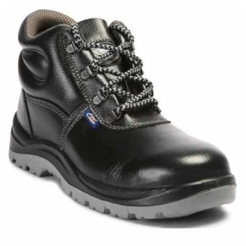 Leather High Ankle Safety Shoes