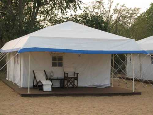Plain White Resort Tent