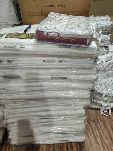White Printed Cotton Bedsheet