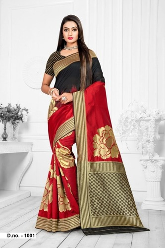 Women Top Dyed Saree With Blouse Piece