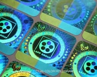 Dual Color Hologram Stickers