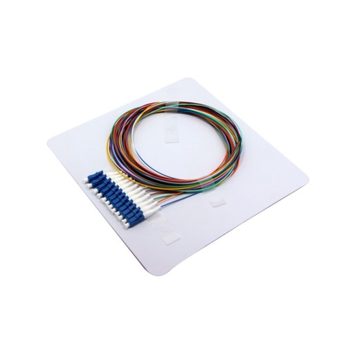 Fiber Optic Pigtail LC SM 12 Core Colored Loose Buffer 250UM Bare Fiber Pigtail