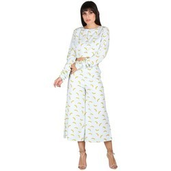 Ladies Banana Print Duo Set Dress