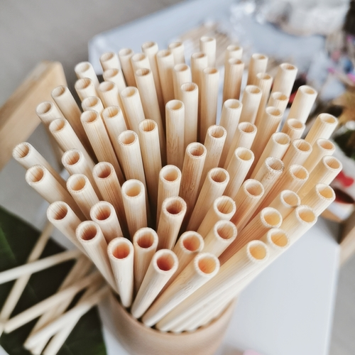 Reusable Bamboo Peeled Straw