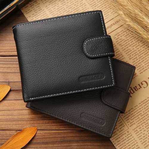 Scratch Resistant Men Brown Leather Wallet