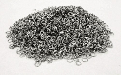 Aluminium 10mm Round Riveted Chain Mail Loose Rings