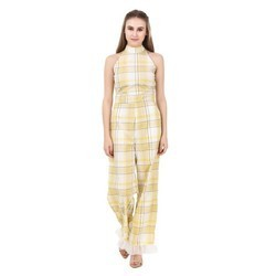 Checked Jumpsuit For Ladies