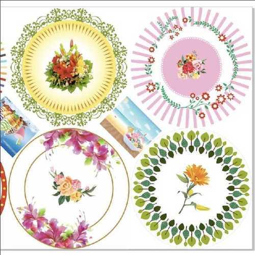 Flower Printed Paper Plate