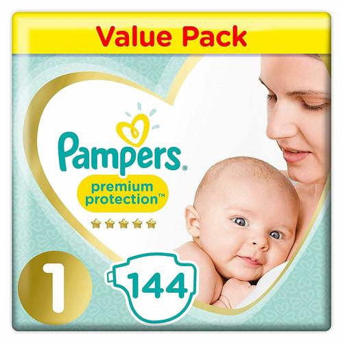 Pampers Premium Protection Nappies Size 1 Jumbo Pack of 144 Diapers