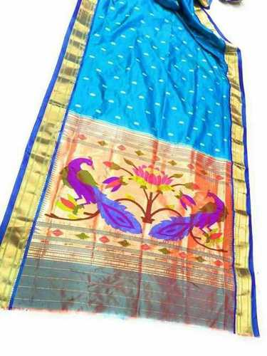 Printed Silk Paithani Saree