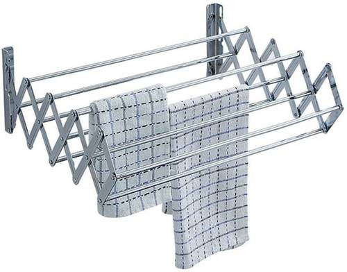 TNC 2 Feet Stainless Steel Wall Mountain Cloth Drying Stand