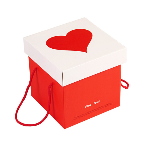 Valentine's Day Flower Gift Paper Packing Box