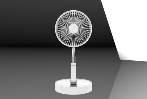 Foldable Pedestal Fan (White)