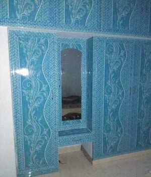 PVC Wardrobe with Attached Mirror