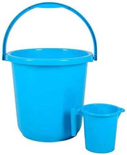 Round Plastic Blue Bucket