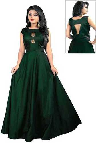 Sleeve Less Ladies Gown