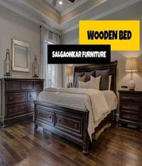 Solid Wooden Bed For Home