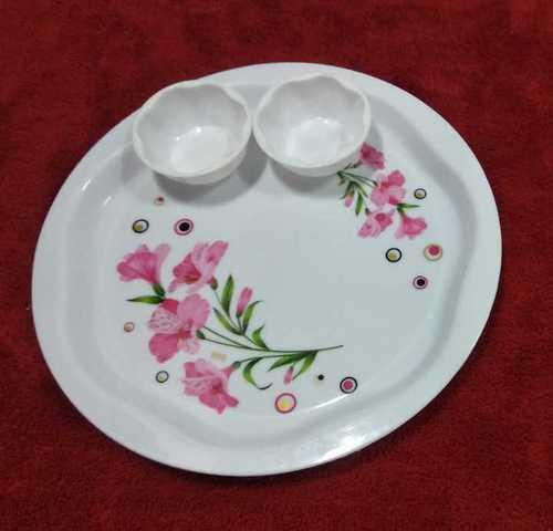 Unbreakable Plastic Printed Dinner Plate