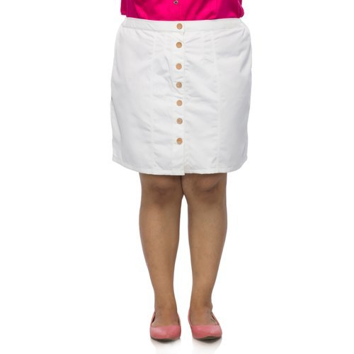 Women White Color Skirt