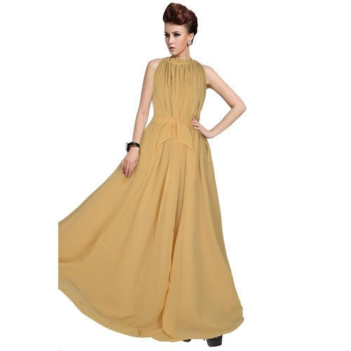 Ladies Party Wear Western Plus Size Gown