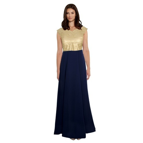 Ladies Western Sleeveless Party Gown