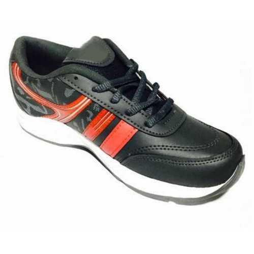 Mens Black Sports Running Shoes