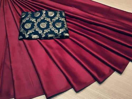 Skin Friendliness Satin Silk Sarees