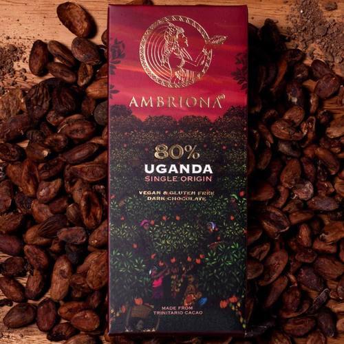 Ambriona Uganda Single Origin 80% Dark Chocolate