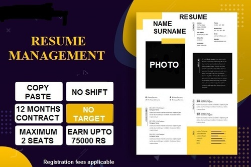Resume Management Work