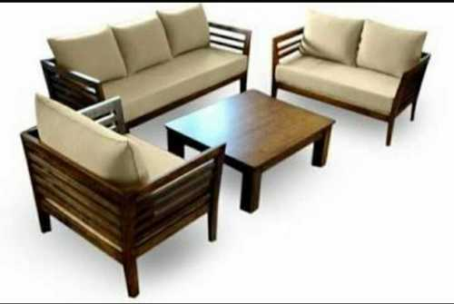 Wooden Sofa Set With Centre Table