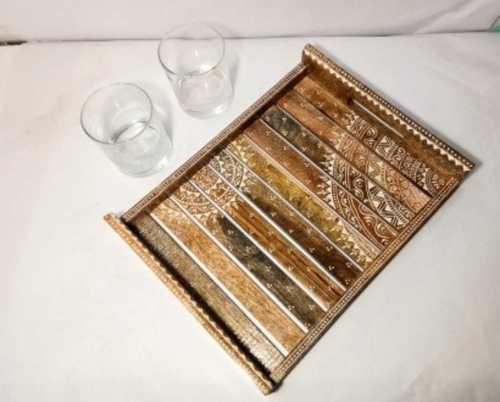 Handicraft Hand Painted Wooden Tray