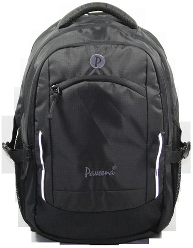 Rexine Black School Bag