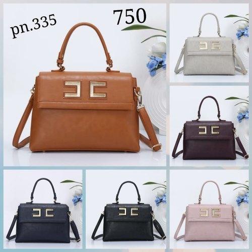 Ladies Brown Adjustable Handbags