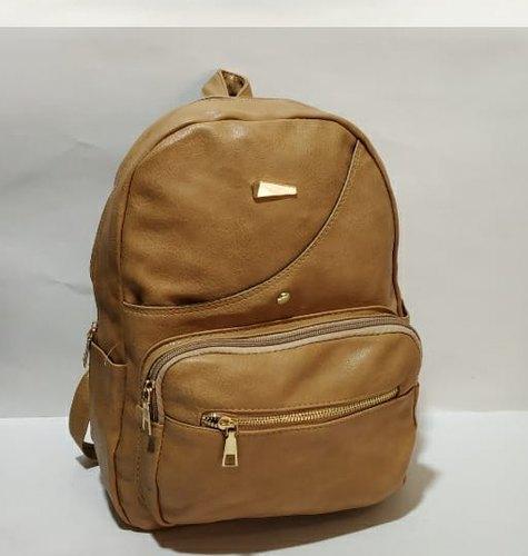 Ladies Pu Leather Hiking Backpack