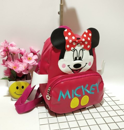 Multicolor Girls Leather Backpacks