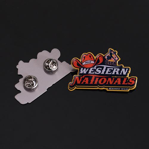 Customized Metal Wing Lapel Pin Aluminum Enamel Badge