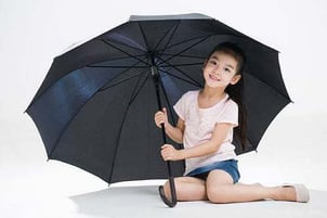 Light Weighted Black Color Umbrella