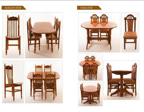 Wood 4 Seats Wooden Dining Table at Price 4500 INR/Piece in Chennai | ID:  6237425