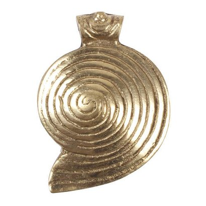 Golden Shiny Gold Plated Conch Lines Pendant