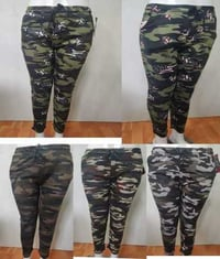 Ladies Military Print Pants
